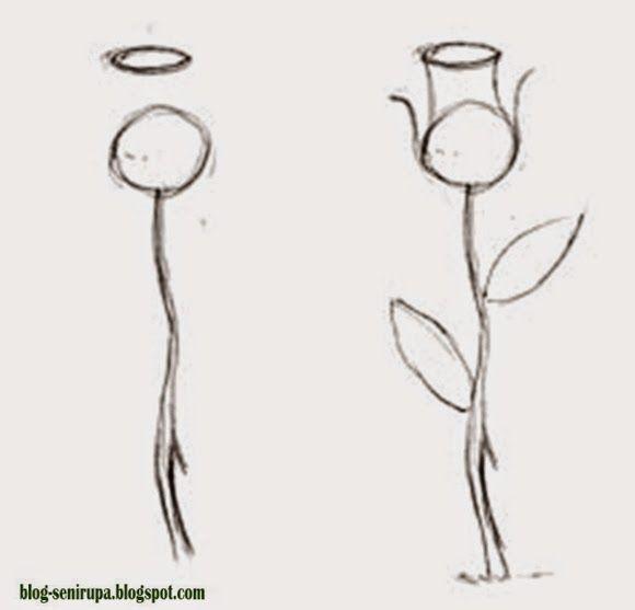 Cara Menggambar Flora Langkah demi Langkah | Seni rupa