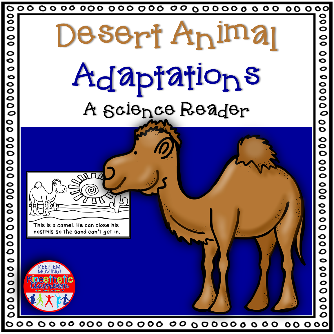 A Little Coloring Book That Teaches About Adaptations In