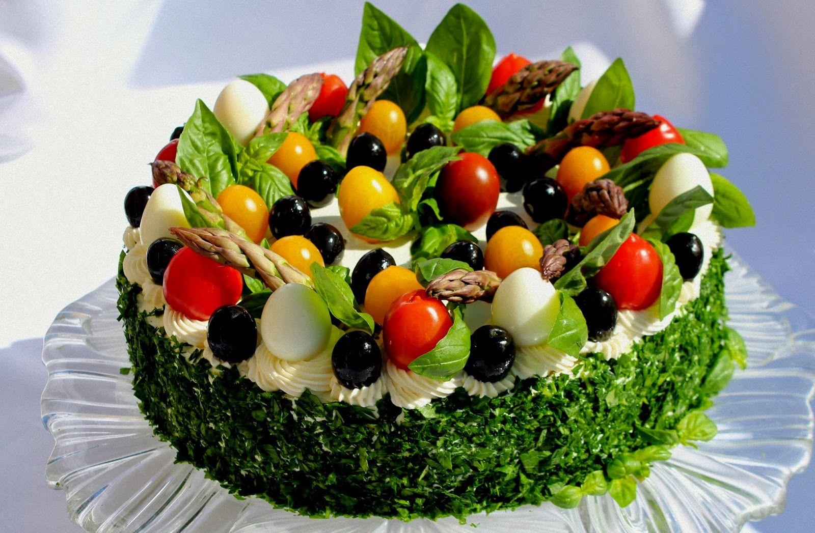 рецепты салатов тортов с фото