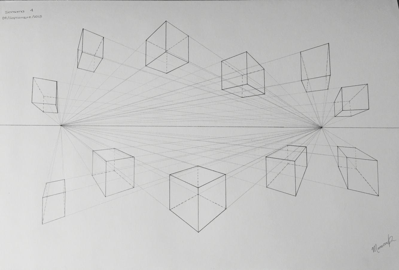 11 Modulos Con 2 Puntos De Fuga Arte De Escuela Secundaria Punto De Fuga Arte