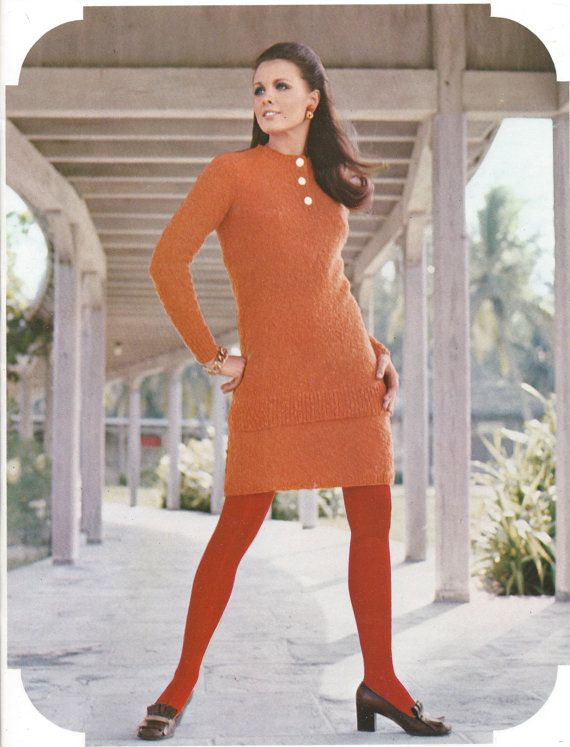 Mod Style Top and Skirt 1960s by TannaGail on Etsy
