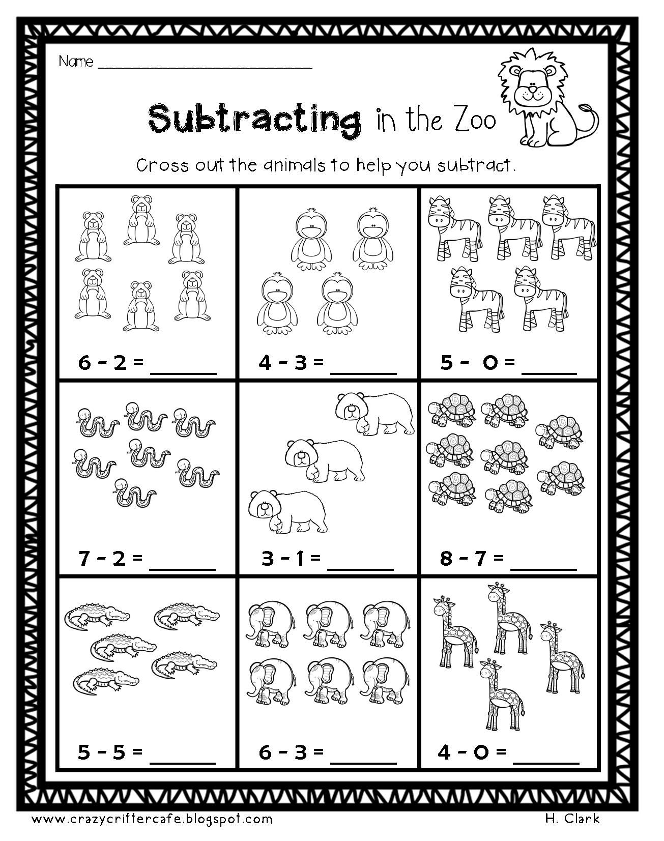 Animals Math Amp Literacy Printables Print Amp Go Morning Work Homework