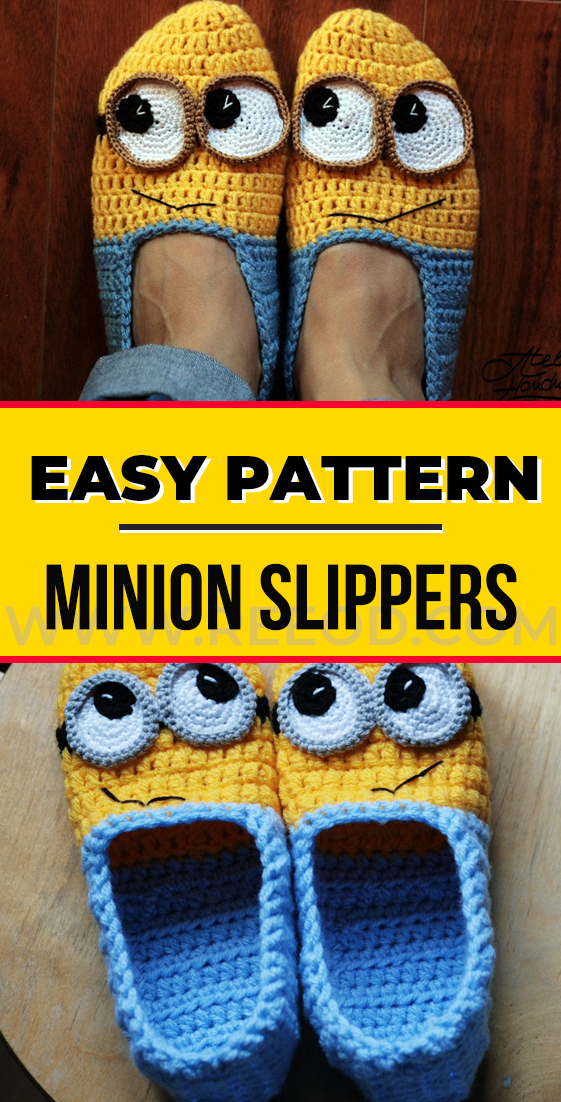 crochet Minion Slippers Yellow and Blue pattern#crochet #pattern #cochetpattern #yarn #diy #craft #handmade #freecrochetpattern #Slippers #minioncrochetpatterns crochet Minion Slippers Yellow and Blue pattern#crochet #pattern #cochetpattern #yarn #diy #craft #handmade #freecrochetpattern #Slippers #minioncrochetpatterns