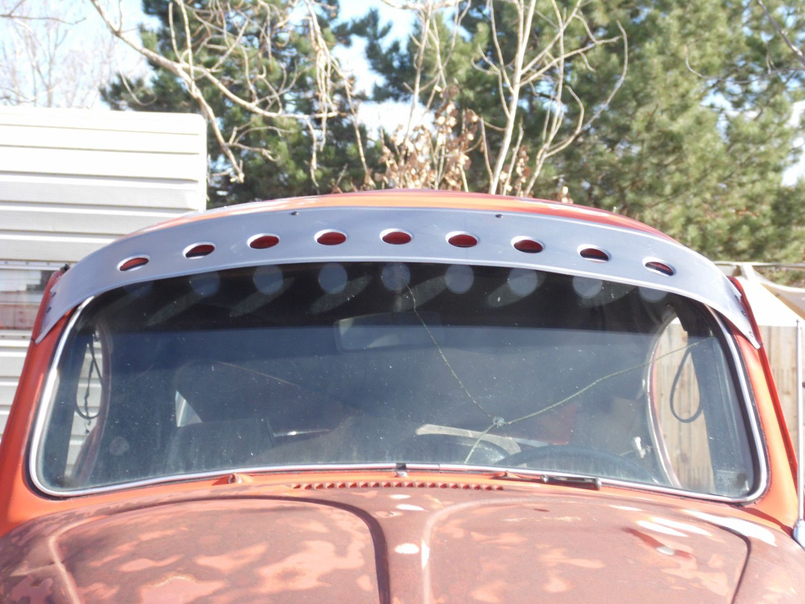 Custom flared hole sun visor for volksrod-rat rod-vw-classic ... fc99a93305e