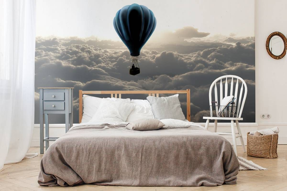 Ballonflug über den Wolken • Skandinavisch - Schlafzimmer - Natur ...