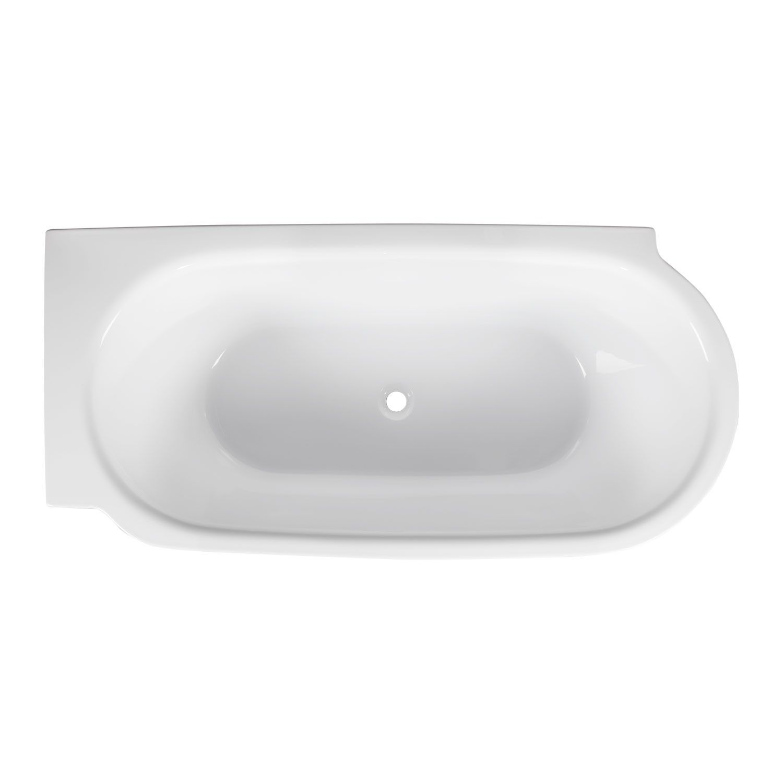 59 Averill Acrylic Freestanding Corner Tub Bathtubs Bathroom Corner Tub Tub Acrylic Tub