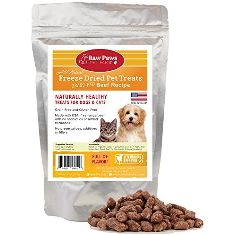 Raw Paws Pet Premium Raw Freeze Dried Beef Dog Treats