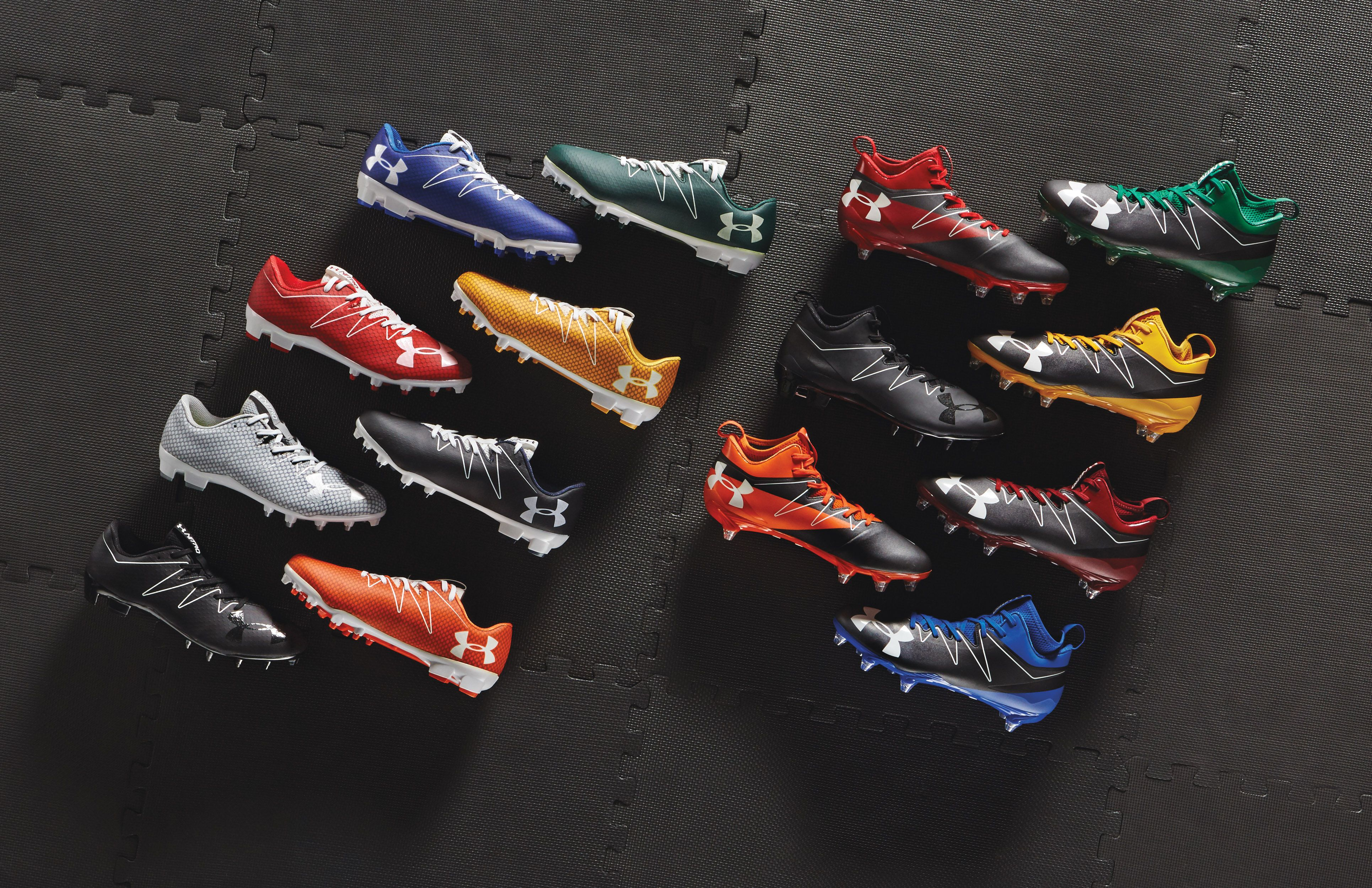 Under Armour cleats for any style. Which color suits you
