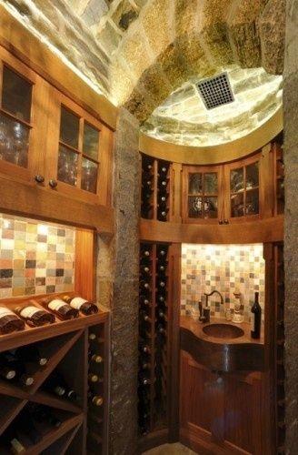Wine Cellar With Curves Contemporary Wine Cellar Wine Cellar