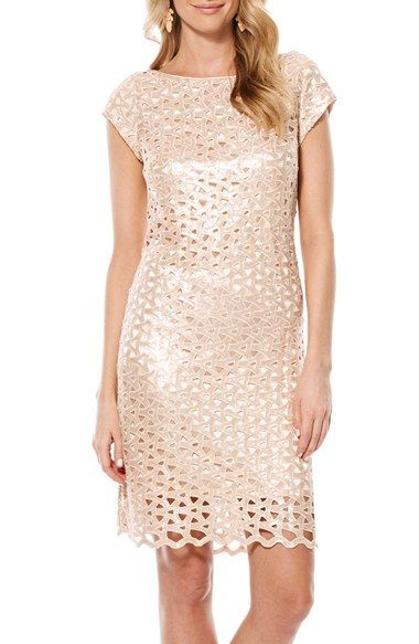 Laundry by Shelli Segal Sequin Geo Cutout Dress