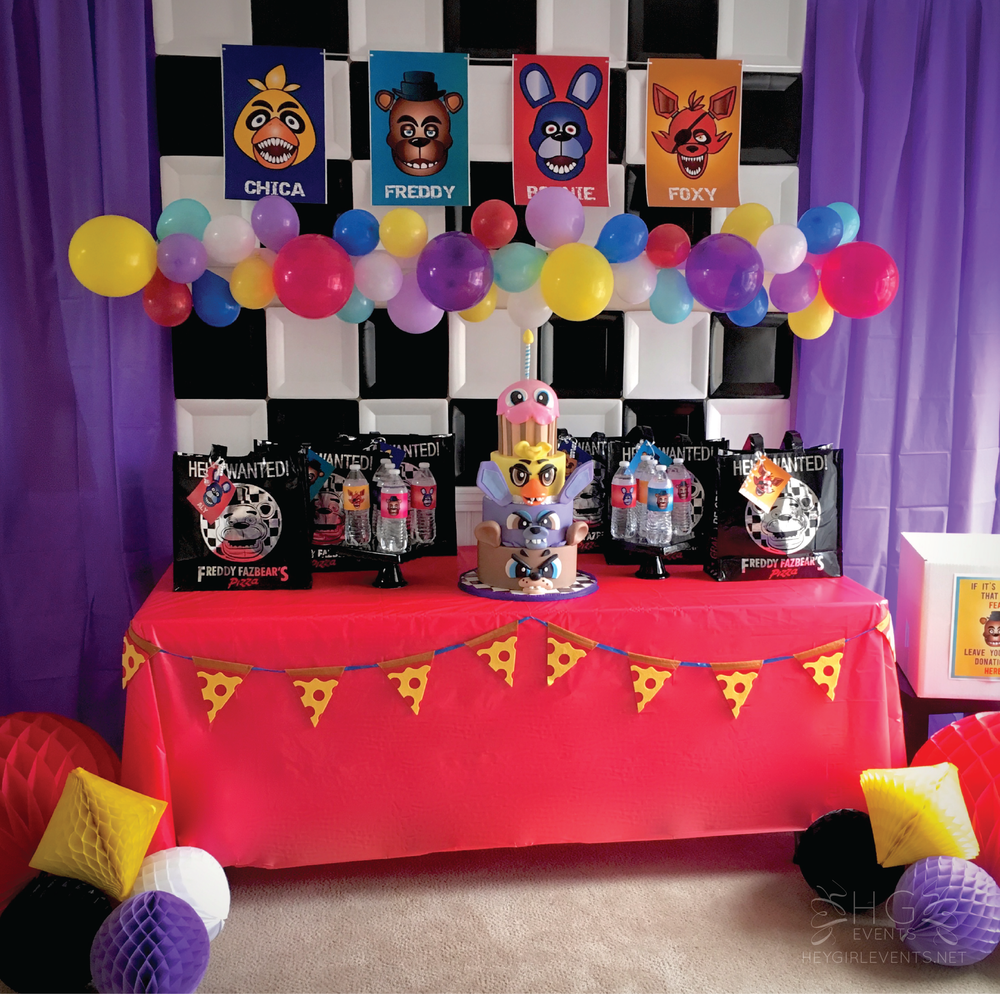 Ideas five nights at freddy party - Five Nights At Freddy S Birthday Party Ideas
