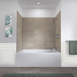 """jetcoat® 60"""" x 32"""" five panel shower wall system"""