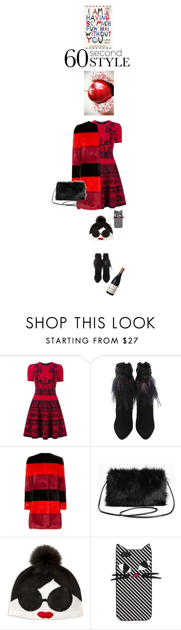 """""""You will not ask me for dinner with family again!"""" by no-where-girl ❤ liked on Polyvore featuring Alexander McQueen, Christian Dior, AINEA, Torrid, Alice + Olivia, Lulu Guinness and familydinner"""