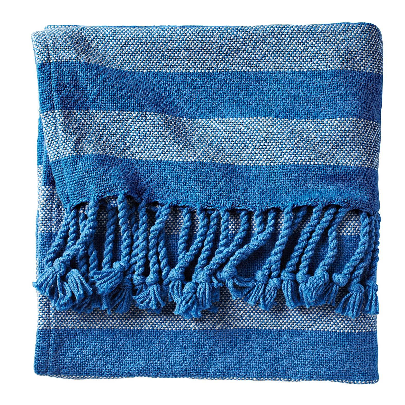 Cobalt Awning Stripe Throw Serena Lily Striped Throw Contemporary Throws Traditional Throws