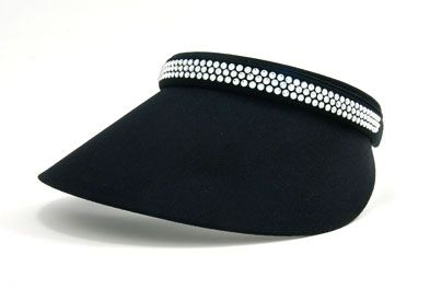 Ladies Clip-on Visor Audrey Full Visor - Classic Colors by Dolly Mama.  Buy it @ ReadyGolf.com