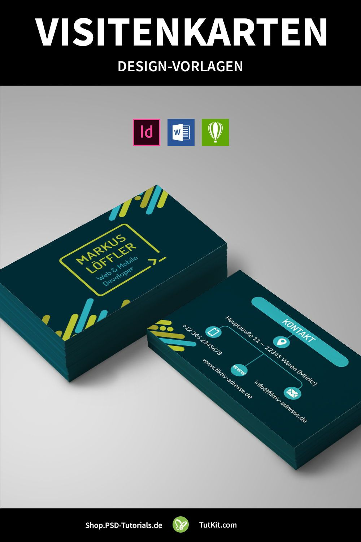 Design Vorlagen Für Visitenkarten Herunterladen Word