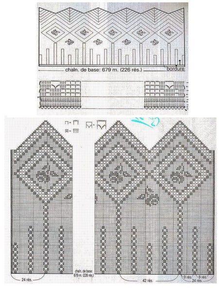 Hermosas cenefas crochet 2 para casa pinterest cenefa hermosa y cortinas - Cenefas de crochet ...