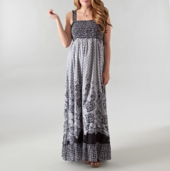 b11b47bbd56 Empire Smocked Printed Maxi Dress | My Style | Fashion, Accessories ...
