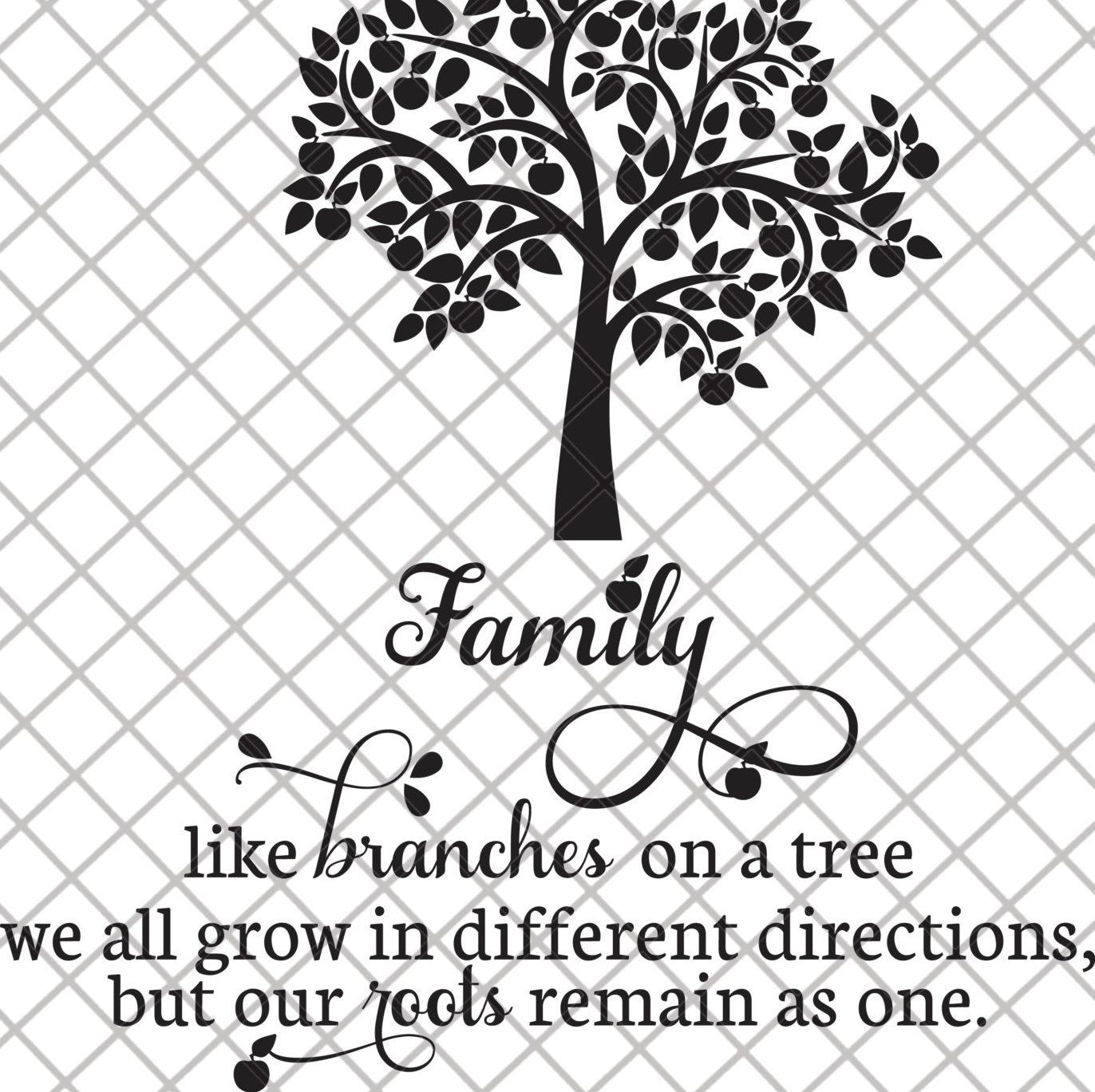 Family Tree Svg File By Svgcoop On Etsy Tree Svg Family Tree
