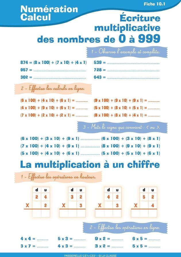 10 fiches d 39 exercices pour perfectionner la num ration et for Calcul classe energetique maison