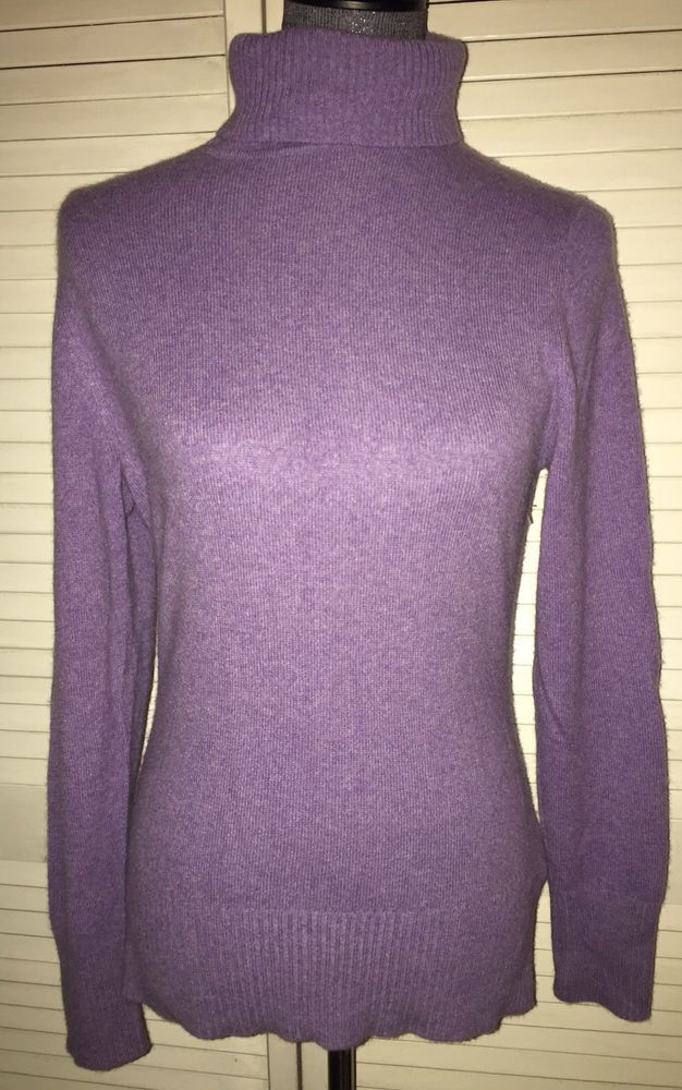 Apt 9 Cashmere Light Purple Turtleneck Sweater M #Apt9 ...