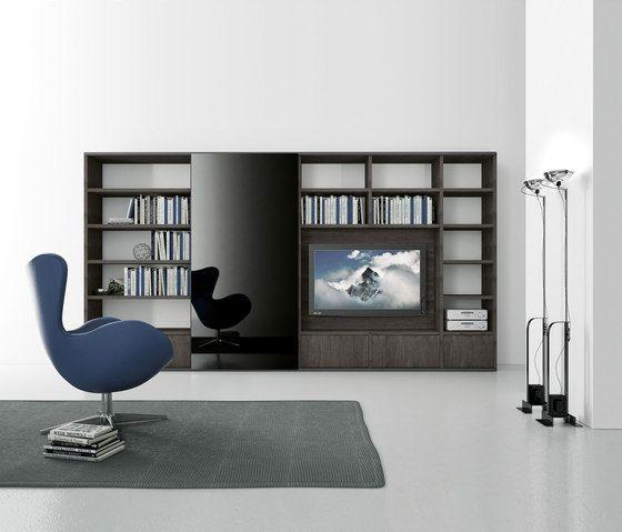 Pari & Dispari Sliding door arrangements by Presotto | AV cabinets ...