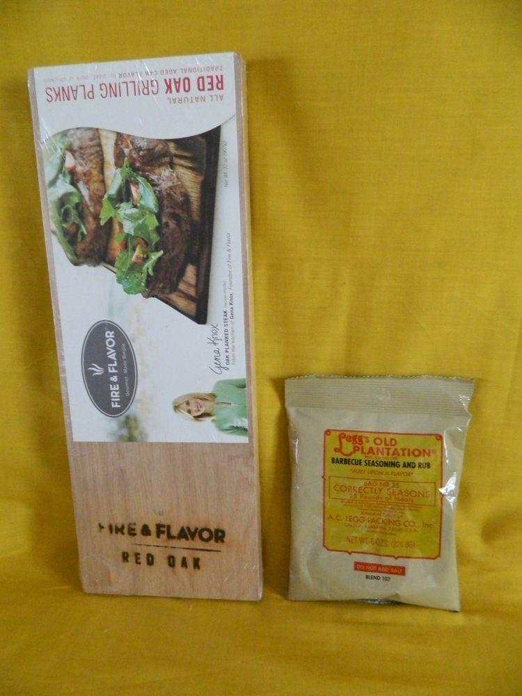 Fire & Flavor Red Oak Grilling Planks w. Legg's BBQ