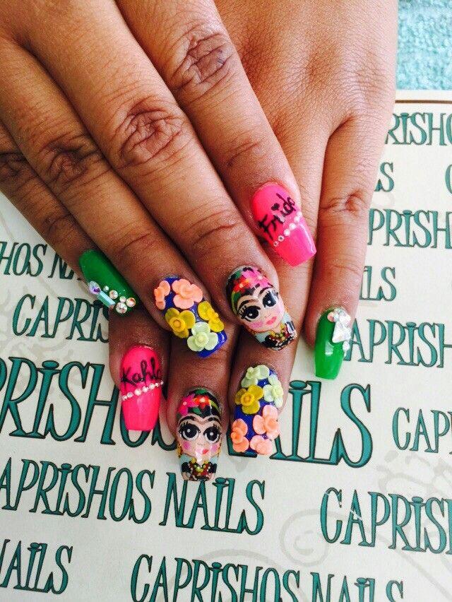 Pin by Caprishos Nails on Uñas   Pinterest   Nail art flowers