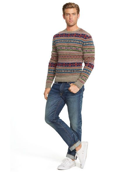 Fair Isle Wool Sweater - Polo Ralph Lauren Crewneck - RalphLauren ...
