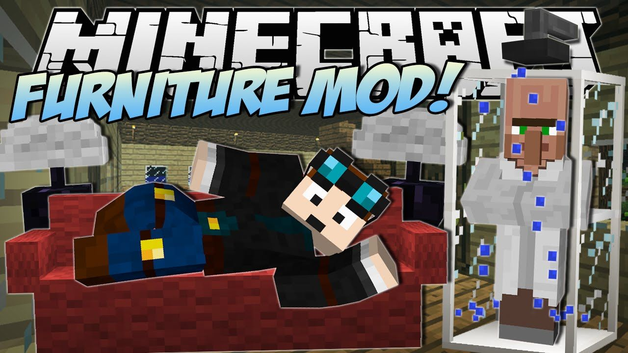 Minecraft furniture mod sofa tv computer bathroom - Diamond minecart clones ...