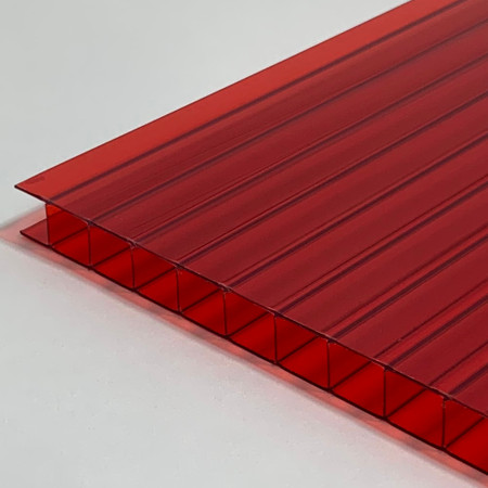 10mm X 48 X 96 Red Multiwall Polycarbonate Sheet At Eplastics In 2020 Polycarbonate Sheet Greenhouse Construction