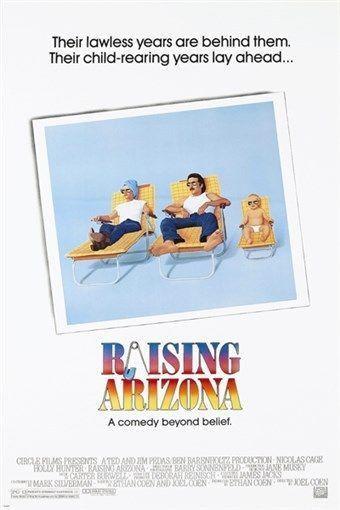 holly HUNTER nicholas CAGE raising arizona /'87 MOVIE poster 24X36 FUNNY GEM