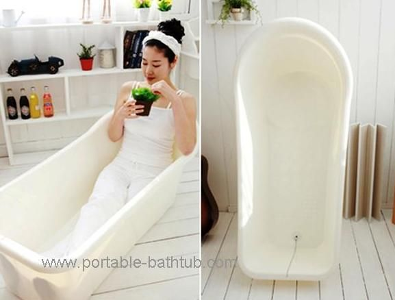 Portable bathtub- wish I had one of these in my Peace Corps house ...