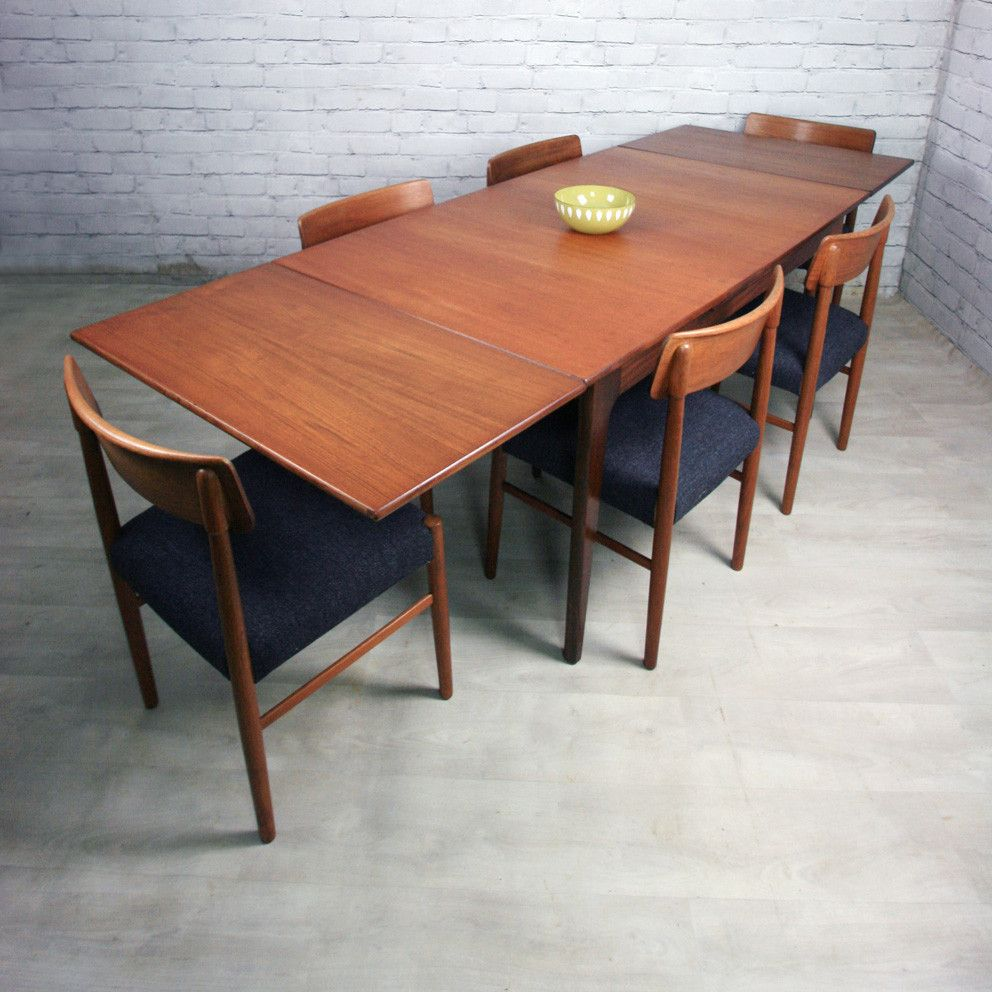 Younger Mid Century Extending Draw Leaf Dining Table Dining
