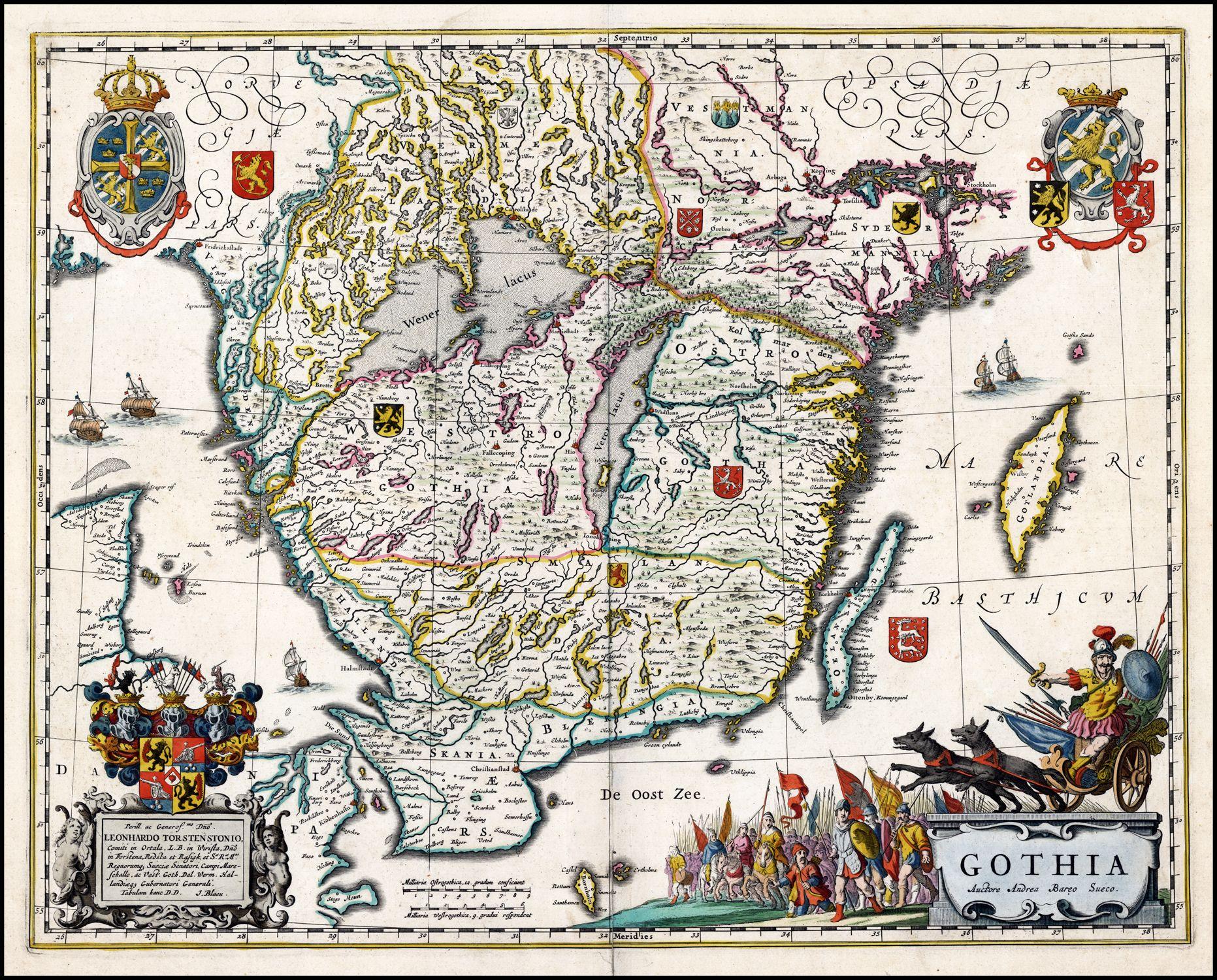 Gothia southern sweden blaeu 1688 cartography pinterest explore antique maps vintage maps and more publicscrutiny Image collections