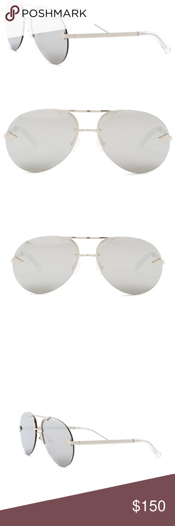 50ca5b4abbb Karen Walker Love Hangover Sunglasses - Style  Aviator - Size  Eye  65mm  Bridge