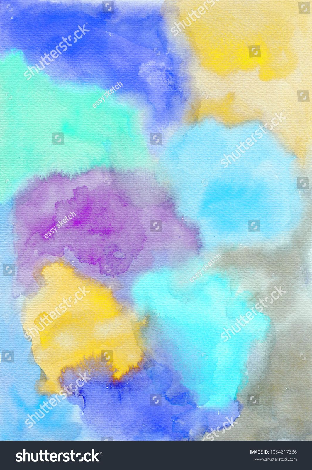 A Filter Texture Watercolor Blue Purple Yellow Abstract Art