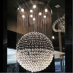 Ø80cm Modern Lighting Round Crystal Pendant Lamp Ceiling Light ...