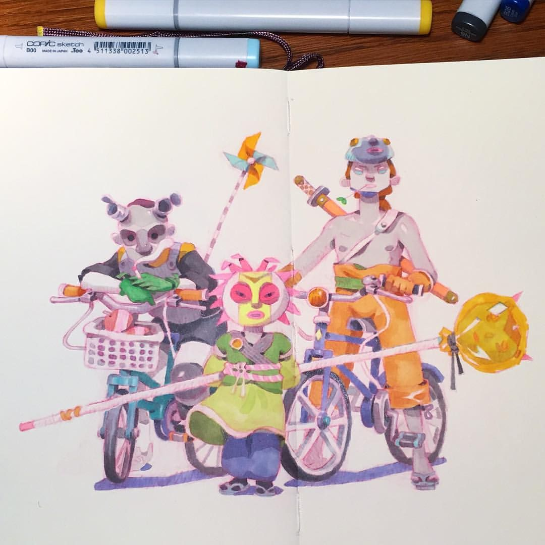 """Rascals 1985"". #illustration #bicycle"