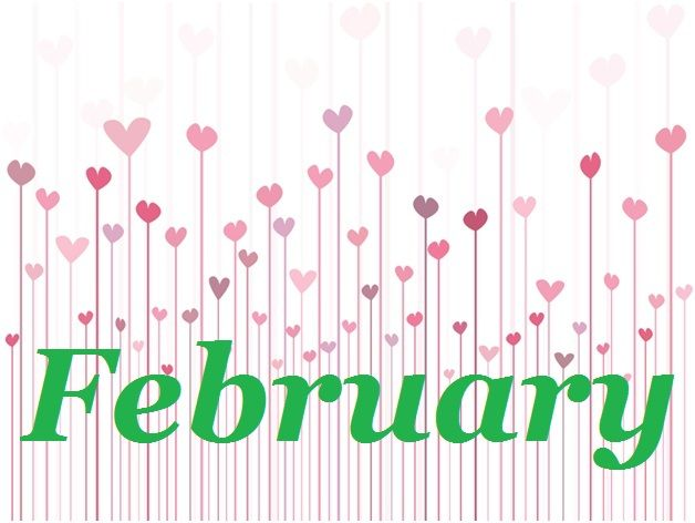 february calendar of events lettering samples pinterest rh pinterest com february clipart free february clip art free