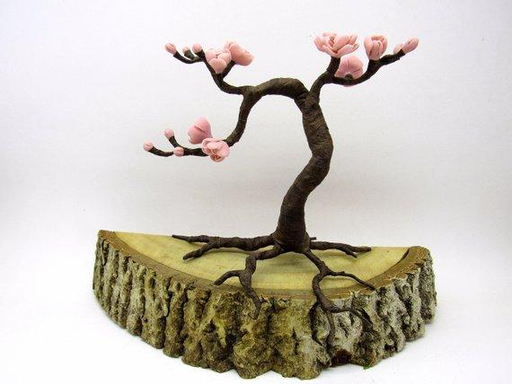 Apple Blossom Tree Zen Garden With Flowering Artificial Tree Etsy Zen Garden Artificial Tree Cherry Blossom Flowers