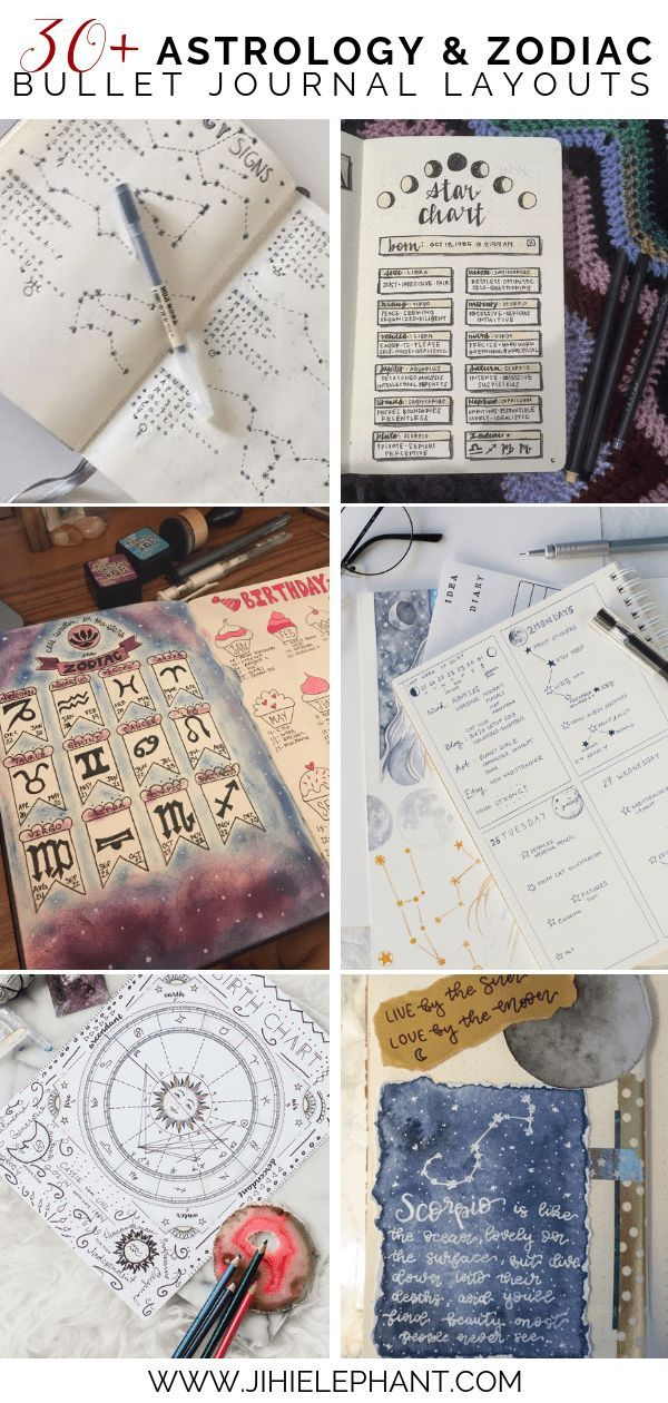 30+ Magical Astrology & Zodiac Inspired Bujo Ideas #astrologyaesthetic
