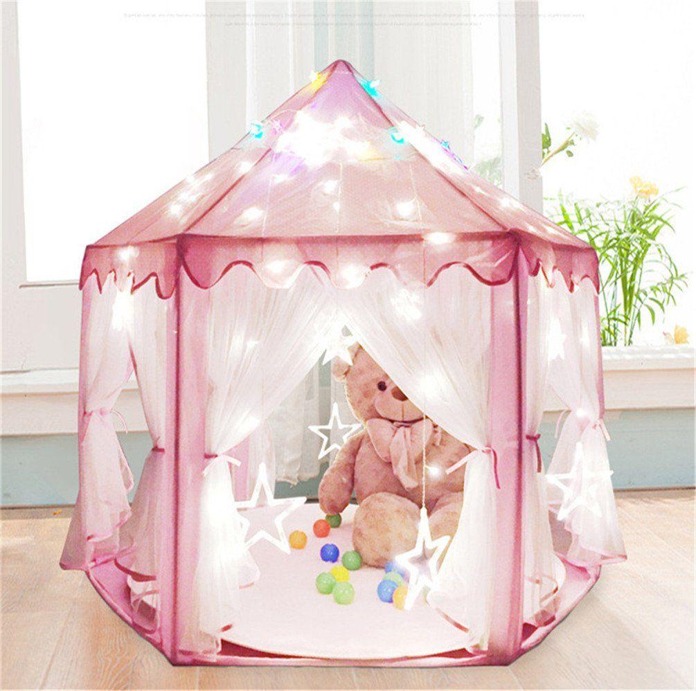 Baabyoo Children Play Tents Kids Tent 53u0027u0027x55u0027u0027 Prince and Princess Playhouse Magical Castle Kids C&ing Boy and Girl Fairy House Mosquito Nets for ... & Baabyoo Children Play Tents Kids Tent 53u0027u0027x55u0027u0027 Prince and ...