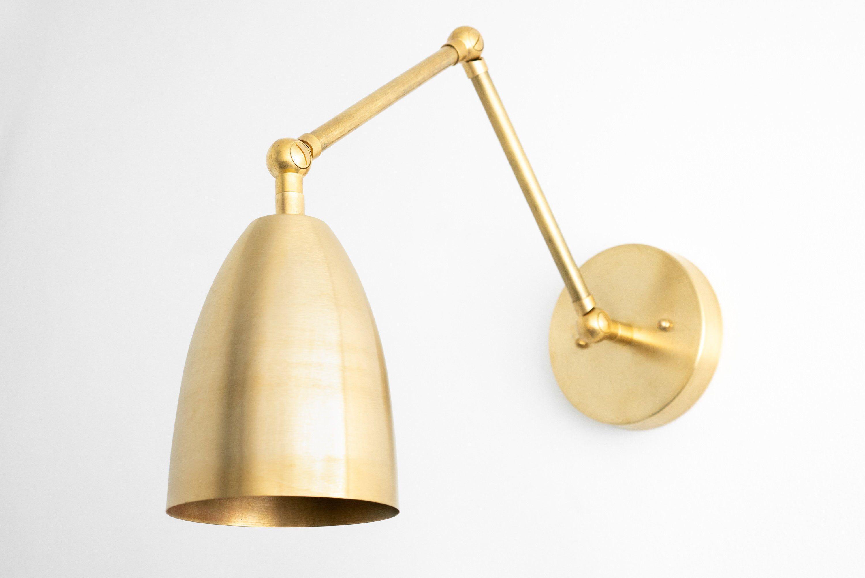 Brass Wall Light Swing Arm Sconce Brass Light Fixture Adjustable Sconce Mid Century Modern Wall Sconce Light Model No 0107 Brass Light Fixture Brass Wall Light Adjustable Sconce