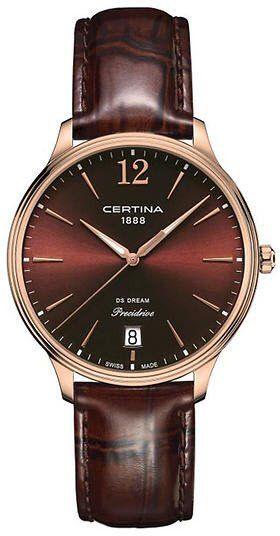 46d22863769 Certina Watch DS Dream 38mm Quartz  bezel-fixed  bracelet-strap-leather