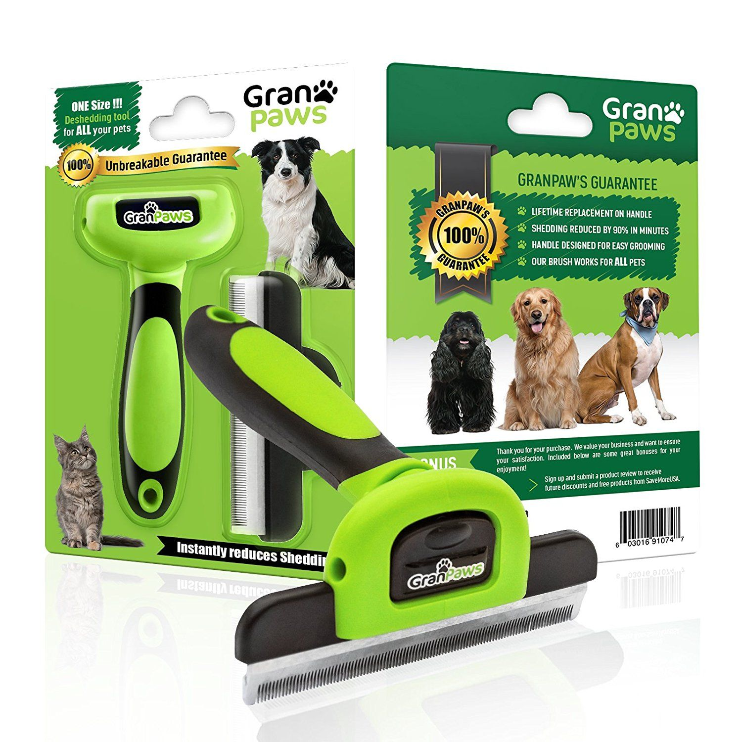 Pet Grooming Supplies Deshedding Tool For All Large And Small Dogs