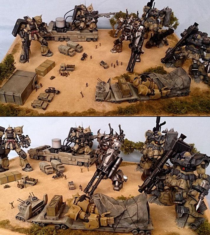 High Grade HGUC 1/144 Zeon Diorama by ZENO