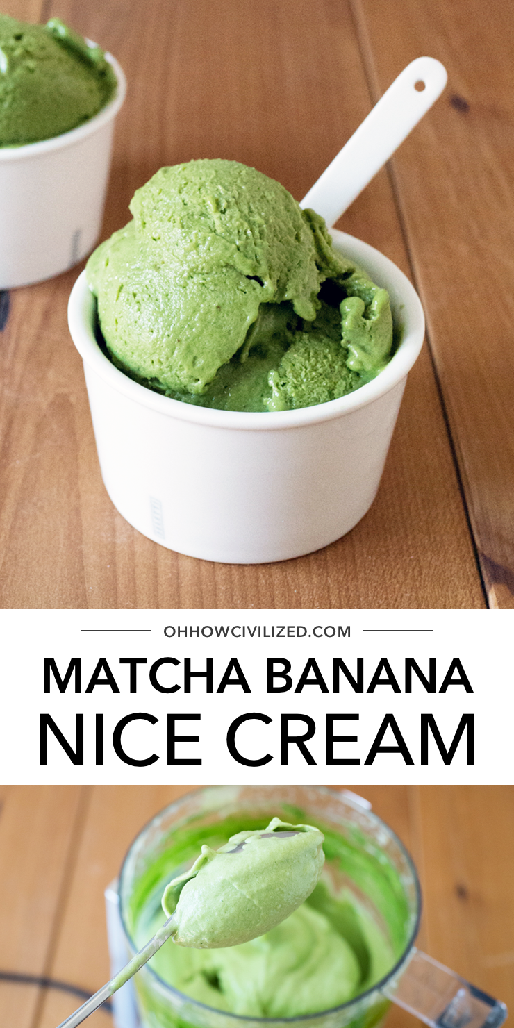 Matcha Banana Nice Cream In 2020 Banana Nice Cream Nice Cream Banana Ice Cream
