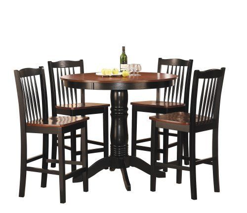 Homelegance 2458 36 5 Piece Round Counter Height Dining Set By