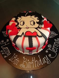 Wondrous Betty Boop Birthday Cake With Images Betty Boop Birthday Birthday Cards Printable Opercafe Filternl